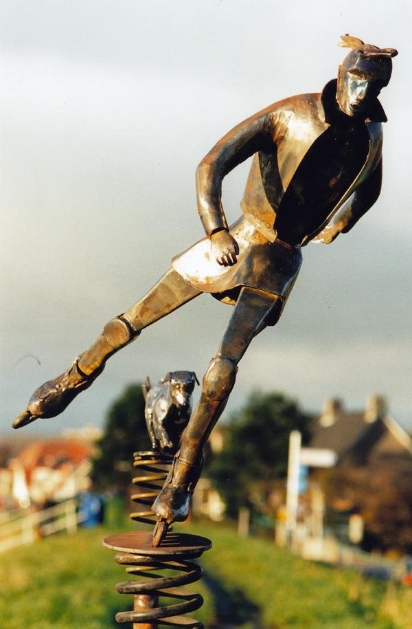 Skaters in Amsterdam, by the Onbekende Kunstenaar