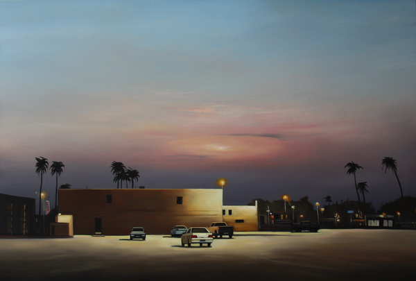 Parking place, 150x200 cm, oil on canvas.
